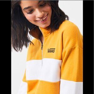 Vans Colorblock cropped half zip sweatshirt 🔥🔥🔥
